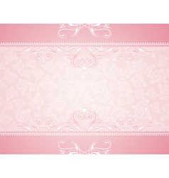 Pink background with roses vector