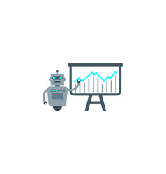 presentation robot logo icon design vector image