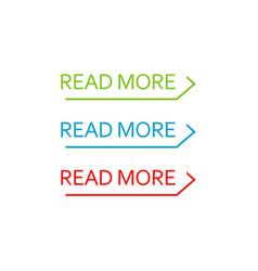 read more button set colorful web element vector image