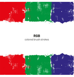 rgb colored brush strokes vector image