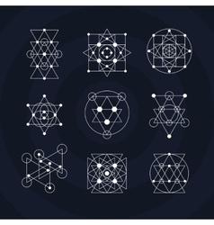 Sacred geometry symbols vector image
