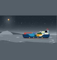 Sea transportation logistic vector