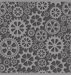 Seamless background with gears the wheels vector