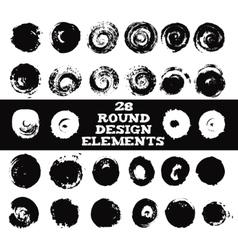 Set of 28 round design elements vector