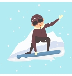 Snowboarder jump vector image