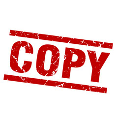 Square grunge red copy stamp vector