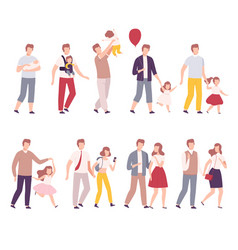 Stages family development set father with his vector