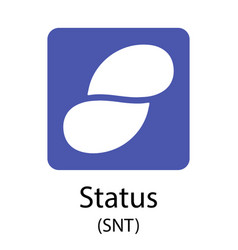 status cryptocurrency symbol vector image