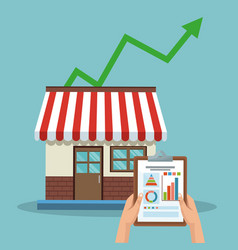 Store growing sales vector