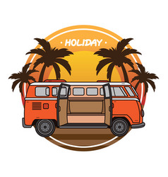 summer holiday vacation design vector image