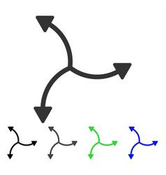 Swirl arrows flat icon vector
