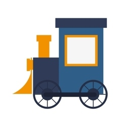 Toy train icon vector