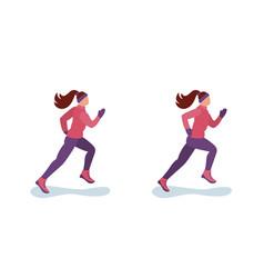 women run in the winter vector image