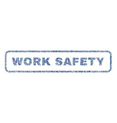 Work safety textile stamp vector