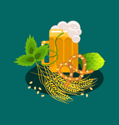 beer festival cartoon banner vector image vector image
