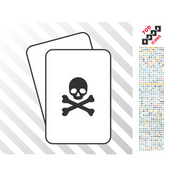 death cards with bonus vector image