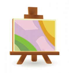 easel board vector image vector image