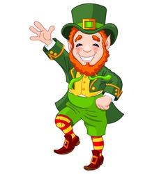 Lucky Dancing Leprechaun vector image vector image