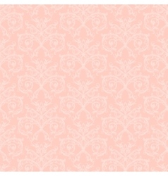 pink damask vector image vector image