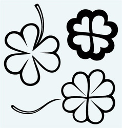Set of hand drawn clovers vector image vector image