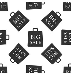 big sale bag seamless pattern on white background vector image