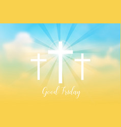 good friday background with white cross vector image