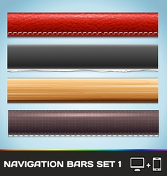 Navigation Bars For Web And Mobile Set1 vector image vector image