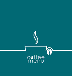 coffee cup logo line design background vector image