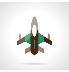 Fighter flat color design icon vector image