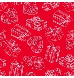 Gift box seamless gift box pattern vector image