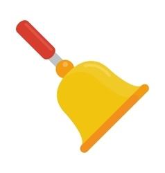 gold school bell flat vector image