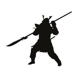Samurai Warriors Theme vector image vector image