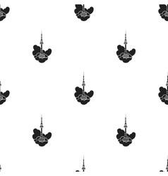 Seoul tower icon in black style isolated on white vector image vector image