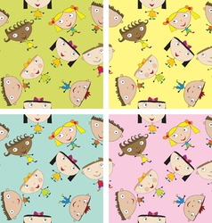 Set of children patterns vector image