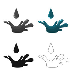 oil drop icon in cartoon style isolated on white vector image