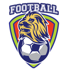 pattern of sport badge for team with lion and ball vector image vector image