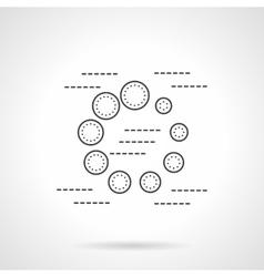 Preloader flat line icon vector image vector image