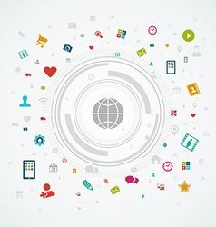 Social media world concept vector image
