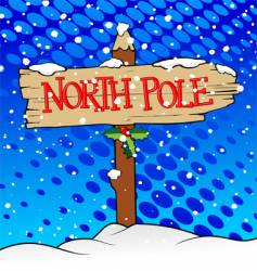 ugly north pole vector image vector image