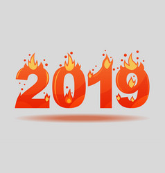 2019 fiery christmas figures symbols for hot vector