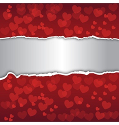 Abstract background Decorated with red hearts vector image