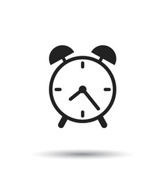Alarm clock icon flat design style simple icon on vector