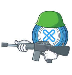 army gxshares coin character cartoon vector image