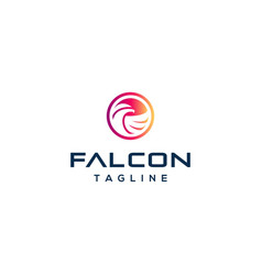 awesome falcon logo design vector image