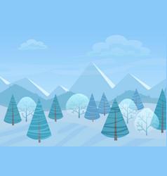 Beautiful christmas winter flat landscape vector