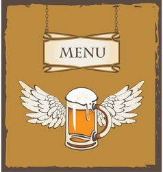 beer wing vector image