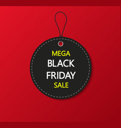 Black friday sale tag label and coupon for black vector