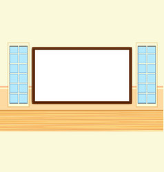 Blackboard template on wall vector