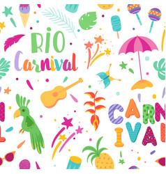 Brazilian carnival seamless pattern samba vector