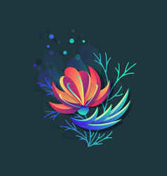 bright color vibrant flower vector image